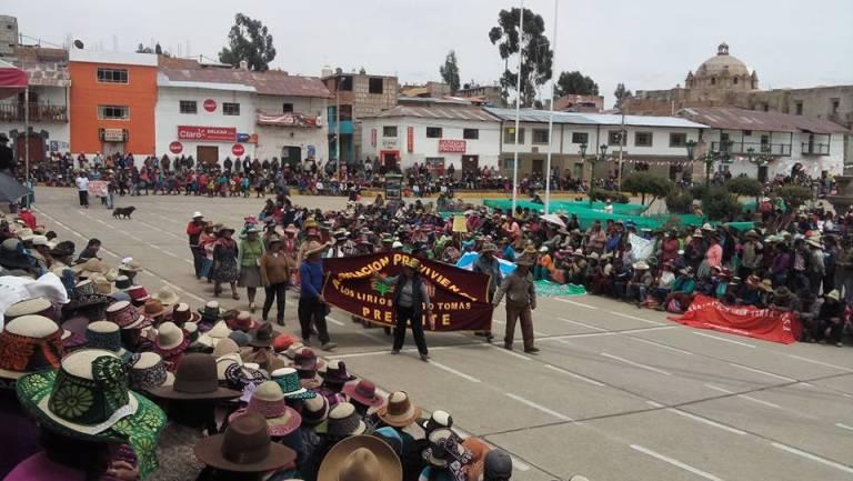 Paro de 24 horas y asamblea popular se llevará el miércoles 26 de abril en la plaza de armas de Santo Tomás