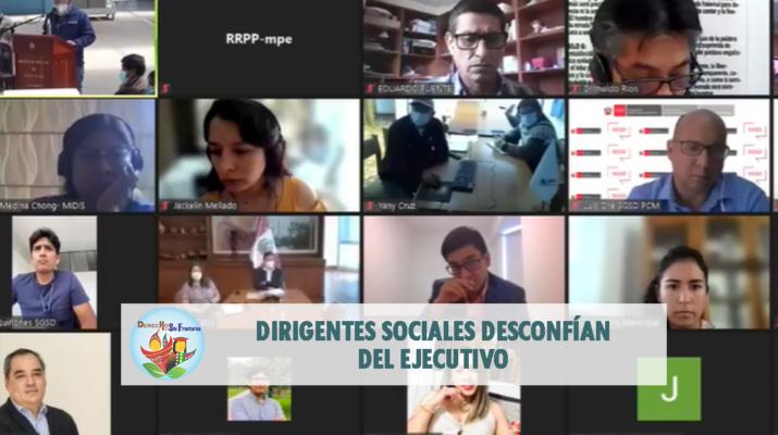 Foto: Captura de la transmisión en vivo de la mesa de diálogo